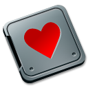 burned, love, folder, valentine icon