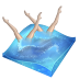 swimming, synchronized icon