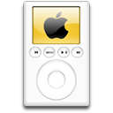 orange, ipod, alternative, mp3 player icon