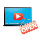 movie, video, play, marketing, film, internet, open, web, seo, media, player icon