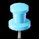 mapmarker, azure, pushpin icon