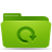 backup, green, folder icon
