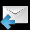 mail arrow left icon