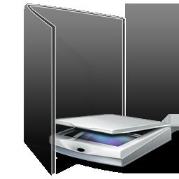 folder, scanner, camera, photography icon