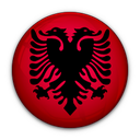 flag, albania, of icon