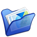 folder, mypictures, blue icon