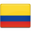 country, flag, colombia icon