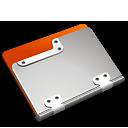 tangerine,folder icon