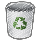 scribble bin empty icon