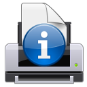 print, information, attention icon