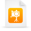 orange, paper, file, document icon