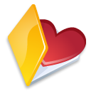 folder,favorits,yellow icon