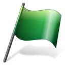 flag,green icon