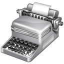 typewriter, publish icon
