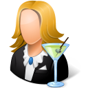 Occupations Bartender Female Light icon