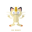 meowth, normal, kanto, pokemon icon