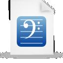 document, paper, blue, file icon