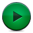play, green, button icon