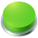 go, perspective, button, green, top icon