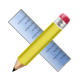 And, Pencil, Ruler icon