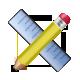 application, ruler, pencil icon