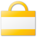 buy, commerce, shopping cart, shopping, yellow, bag, cart icon