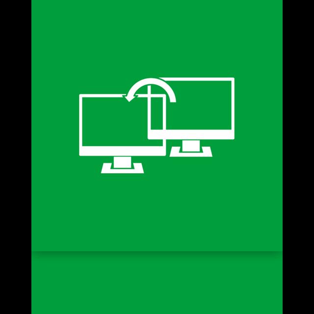 transfer, window, easy, mirror icon