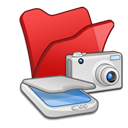 , &Amp, Cameras, Folder, Red, Scanners icon