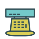 Cash Register Icon Line Icon Sets Icon Ninja