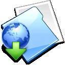 internet, folder, downloads icon