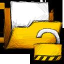unlocked, folder icon