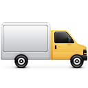 truck, transportation icon