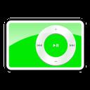 green, ipod, 2g, shuffle icon