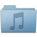 Music Folder Blue icon