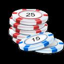 chip, casino icon