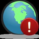 Globe Warning icon