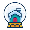 decoration, snowglobe, decorate, christmas, house icon