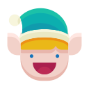 happy, emot, smile, emoji, elf icon