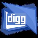 social, logo, square, media, digg icon