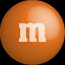 chocolate, orange, color, colour, m&m icon