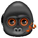 gorilla, monkey, animal icon