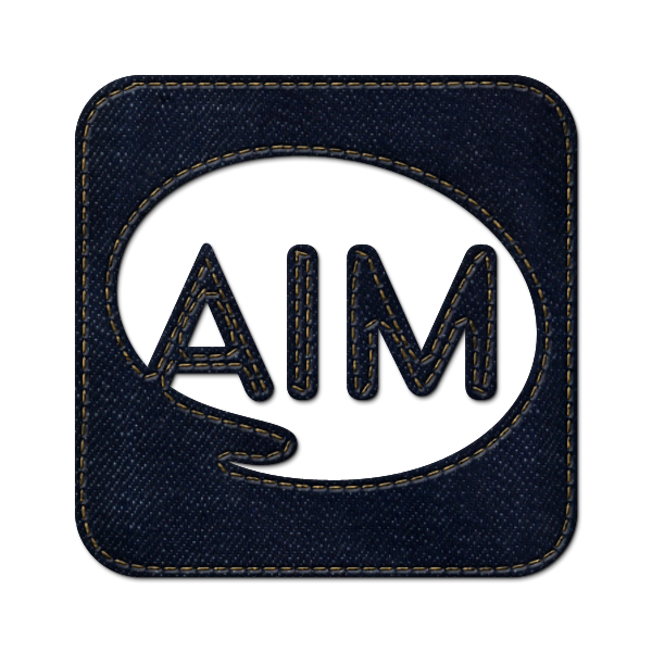 logo, aim, jean, square, social, denim icon