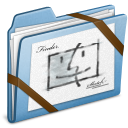 blue,sketch icon
