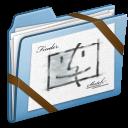 sketch, blue icon