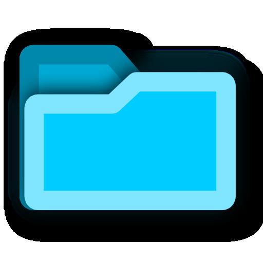 tip, hint, blue, energy, folder, light icon
