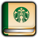 starbucks, diary icon