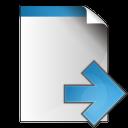document arrow right icon
