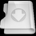 down, download, folder, descending, descend, decrease, fall icon