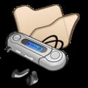Folder beige mymusic icon