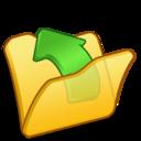 Folder yellow parent icon